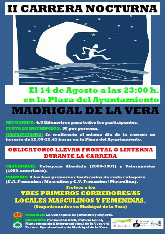 II Carrera Nocturna - 14-08-2016 a las 23:00h