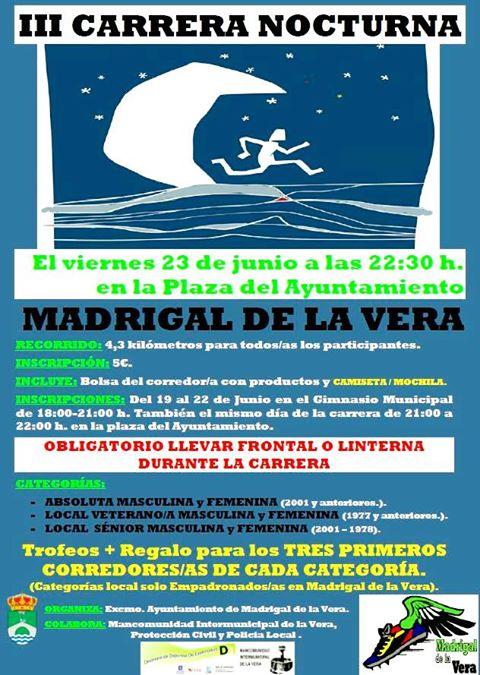 III Carrera Nocturna Madrigal de la Vera 2017